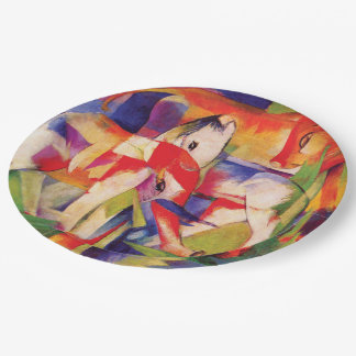 Elephant, Horse, Cattle, Winter by Franz Marc Paper Plate