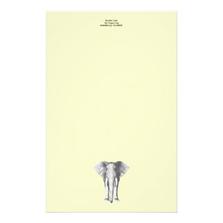 Elephant in Black and White Stationery