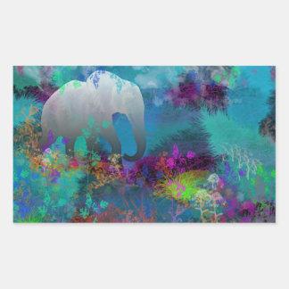 Elephant In Future Fantasyland - Tropical Sticker