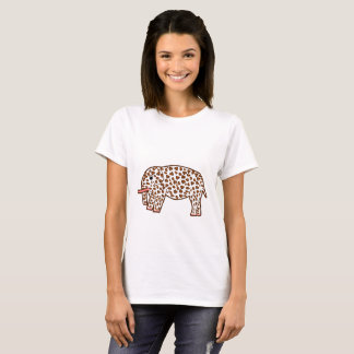 elephant in leopard print T-Shirt