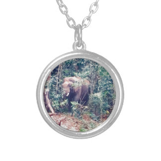 Elephant in Thailand Silver Plated Necklace