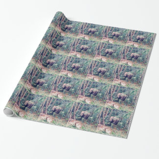 Elephant in Thailand Wrapping Paper