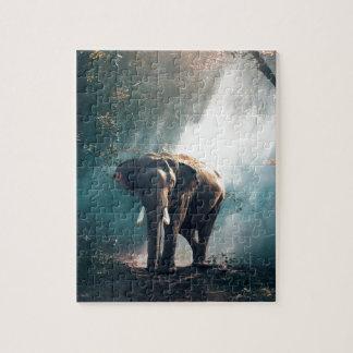 Elephant In The Savannah Jigsaw Puzzle