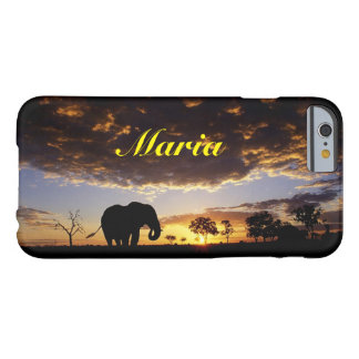 Elephant in the sunset barely there iPhone 6 case