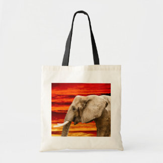 Elephant in the Sunset - Tote Bag
