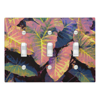 Elephant Leaves in Tropical Pastels Light Switch Cover