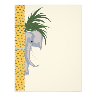 ELEPHANT LETTER HEAD Felt Letterhead