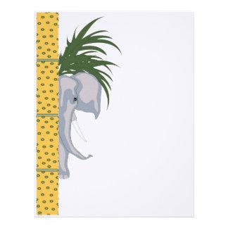 ELEPHANT LETTER HEAD Linen Personalized Letterhead