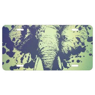 Elephant License Plate