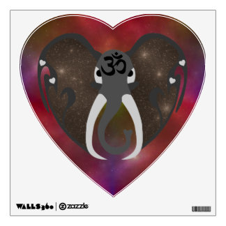 Elephant Listening to the Cosmos Wall Sticker