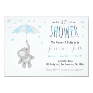 Elephant Little Peanut Baby Shower Invitation