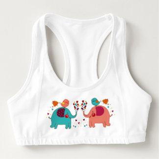 Elephant love sports bra