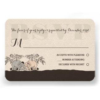 Elephant Love Wedding Rsvp Card