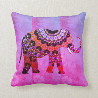 Elephant Magenta Striped Ultra Violet Pillow Wow!