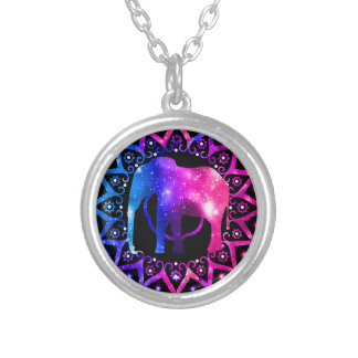 Elephant Mandala Silver Plated Necklace
