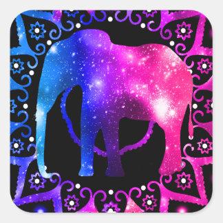 Elephant Mandala Square Sticker