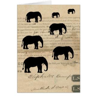 Elephant March on1860's Deed Ephemera Card Vintage