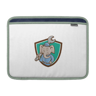 Elephant Mechanic Spanner Shoulder Crest Cartoon MacBook Air Sleeves