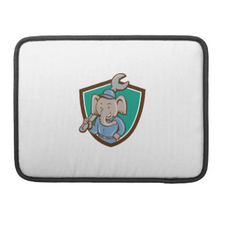 Elephant Mechanic Spanner Shoulder Crest Cartoon Sleeves For MacBooks