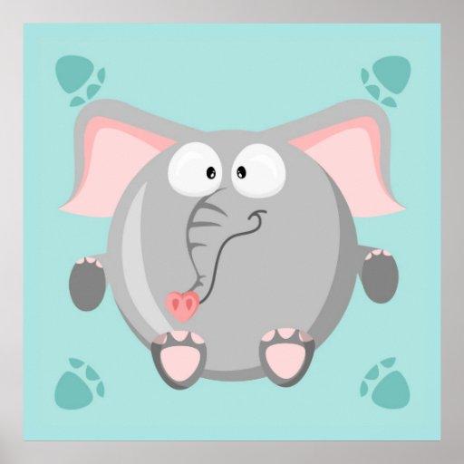 Éléphant mignon poster