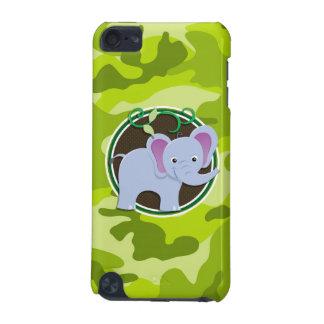 Éléphant mignon camo vert clair camouflage