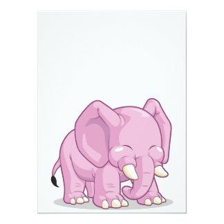Éléphant mignon cartons d'invitation