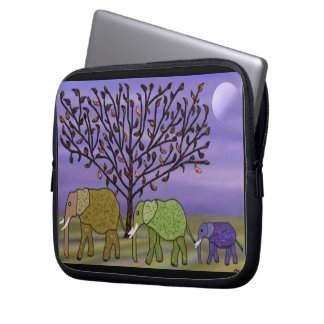 Elephant Moon 10 inch Laptop Sleeve