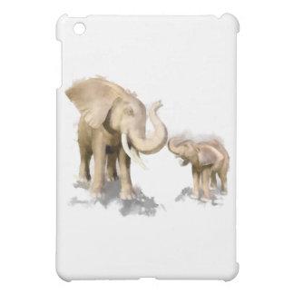 Elephant Mother & Child 2 iPad Mini Covers