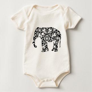 elephant motifs baby bodysuit