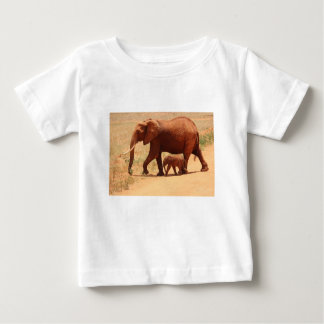 Elephant Mummy and Cub Baby T-Shirt