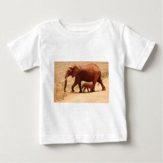 Elephant Mummy and Cub Baby T-Shirt