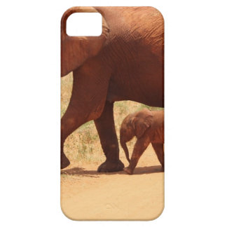 Elephant Mummy and Cub iPhone 5 Cases