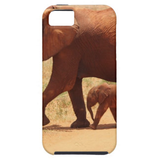 Elephant Mummy and Cub iPhone 5 Covers