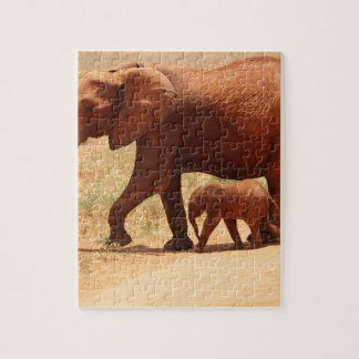 Elephant Mummy and Cub Jigsaw Puzzle