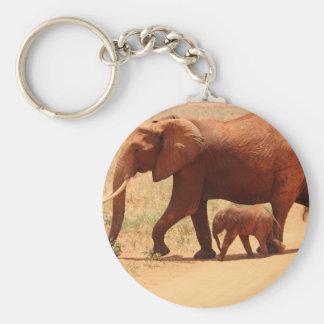 Elephant Mummy and Cub Keychain