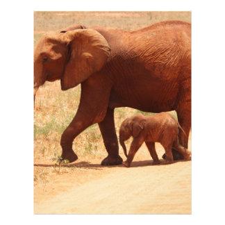 Elephant Mummy and Cub Letterhead