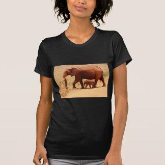 Elephant Mummy and Cub T-Shirt
