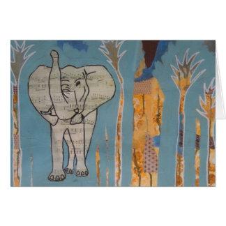 Elephant Music Card