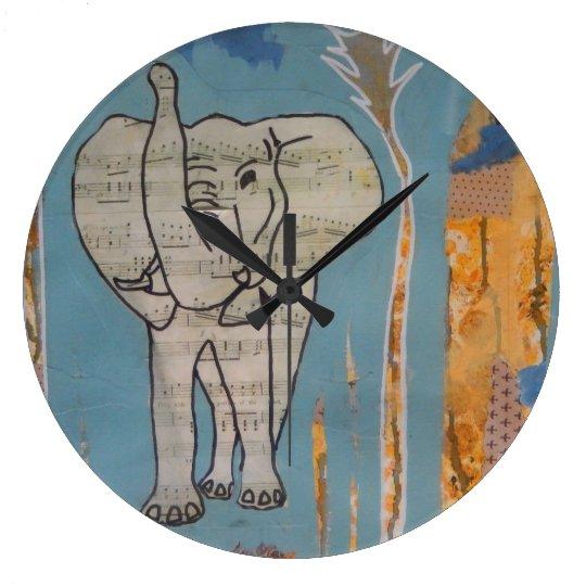 Elephant Music Clock