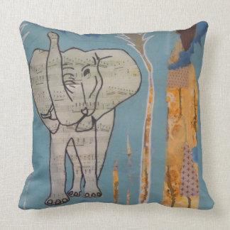 Elephant Music Cushion