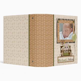 "ELEPHANT Nali Jungle Crib 1.5"" Baby Album (photo) Vinyl Binder"