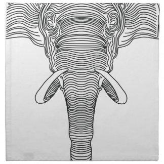 elephant napkin