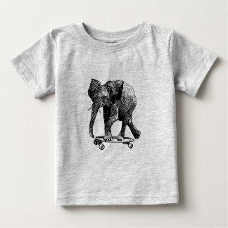 elephant on a skateboard baby T-Shirt