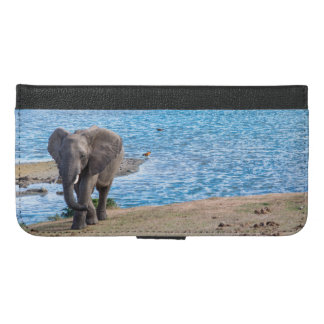 Elephant on the lake iPhone 6/6s plus wallet case