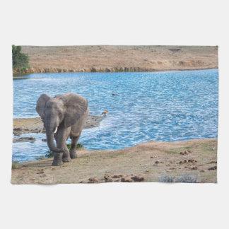 Elephant on the lake kitchen towel