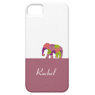 Elephant On the Road (Colorful Flowers) Case For The iPhone 5