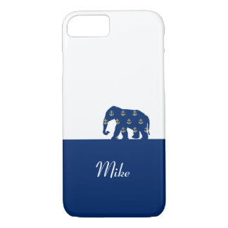 Elephant On the Road (Golden Anchors) iPhone 7 Case