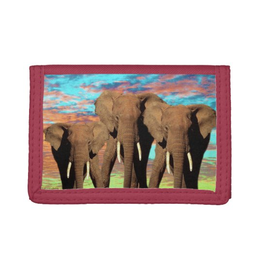 Elephant_Opal_Sunrise,_Nylon_Wallet Tri-fold Wallet