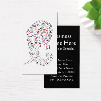elephant ornate business card