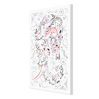 elephant ornate canvas print